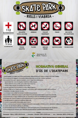 normes d'ús skatepark