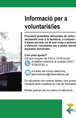 Vols ser voluntari/a?